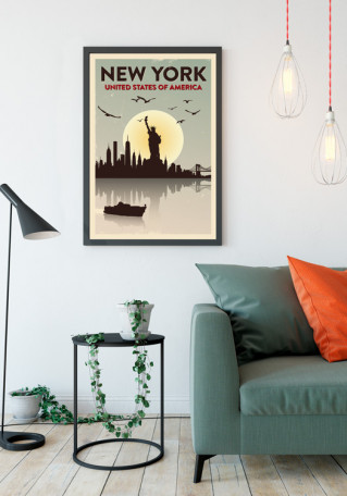 New York grunge plakat