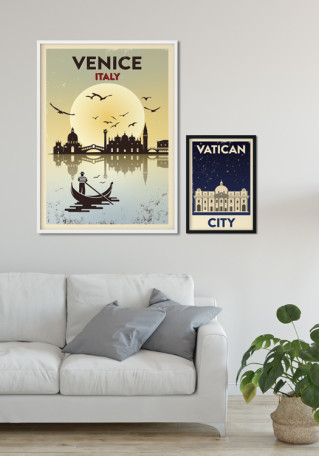 Vatican City Night Grunge plakat
