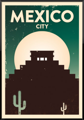 Mexico City grunge plakat