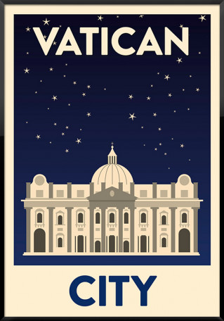Vatican City Night plakat